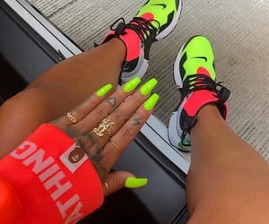 nails, sneakers, and neon image