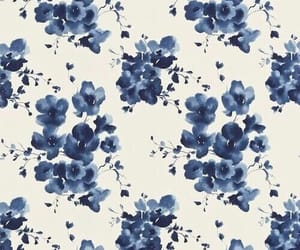 flowers, wallpaper, and blue image