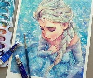 frozen, elsa, and art image