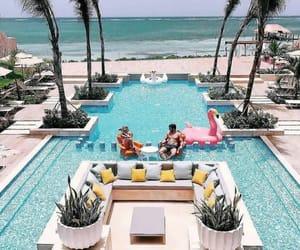 travel, luxury, and pool image