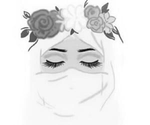 art, girl, and hijab image