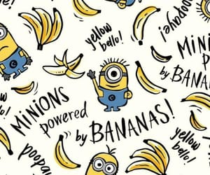 minions, background, and banana image