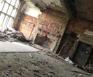 abandoned, Devil, and burn image