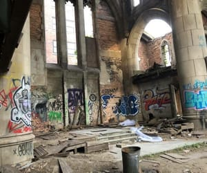 abandoned, church, and Devil image