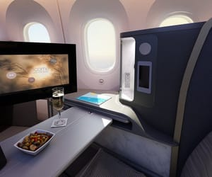 airplane, beautiful, and comfortable image