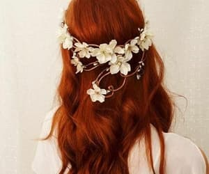 flores, haired girls, and flowers image