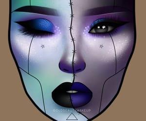 aesthetic, Halloween, and lipstick image