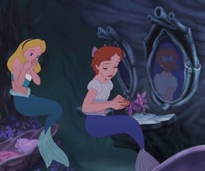 alice, heart, and mermaid image