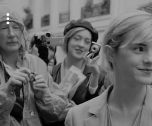black&white, emma watson, and paparazzi image