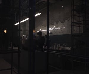 aesthetic, cafe, and dark image