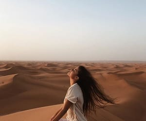 beauty, desert, and hair image