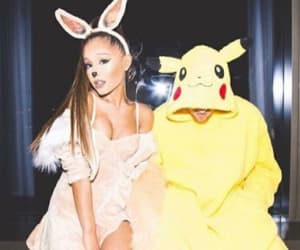 ariana grande, mac miller, and Halloween image