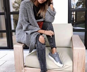 cardigan, casual, and fashion image