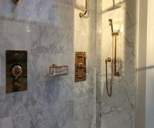 marble, luxury, and shower image