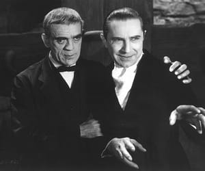 Bela Lugosi, Boris Karloff, and the raven image