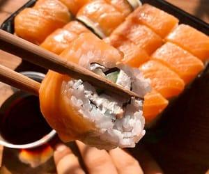 fish, food, and sauce image