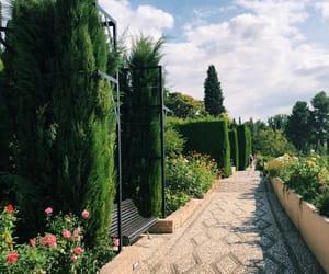 Alhambra, garden, and Granada image