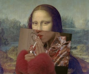 cigarette, edit, and mona lisa image