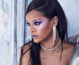 rihanna, makeup, and singer image