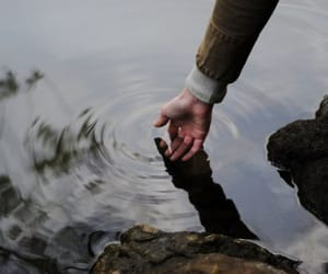 hand, river, and virginia woolf image