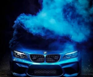 car, blue, and bmw image
