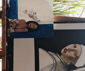 artsy, paint, and women image