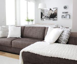 home, white, and couch image