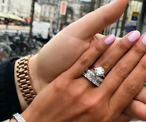 couple, love, and engagement ring image