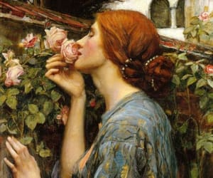 art, painting, and rose image