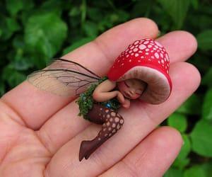 fairy, fantasy, and mushroom image