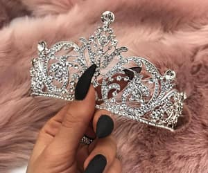 nails, crown, and pink image