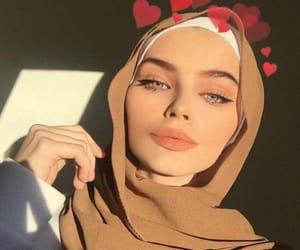 girl, boy, and hijab image