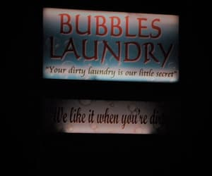 bubbles, sign, and laundry image