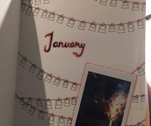 art, firework, and january image