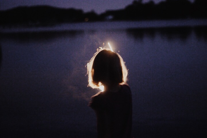 girl, alone, and light image