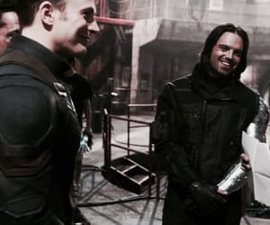 bucky, captain america, and chris evans image
