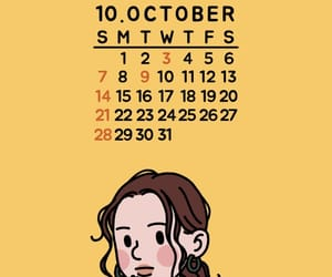 calendar, october, and wallpaper image