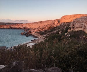 bay, rocks, and sea image