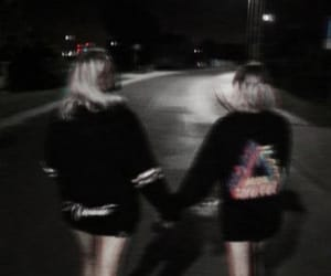 black, dark, and girl image