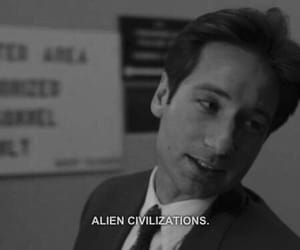 90s, black and white, and fox mulder image
