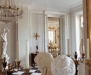chandelier, soft, and statue image