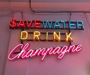 neon, quotes, and champagne image