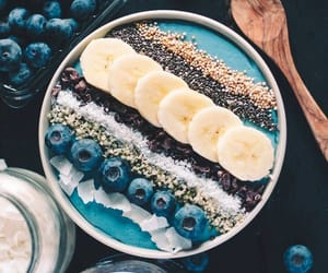 breakfast, blue, and fitness image