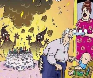 birthday, farting, and grandpa image