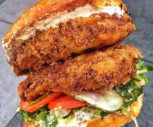 burger, Chicken, and delicious image