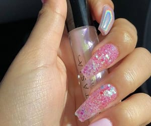 acrylics, pink, and nails goals image