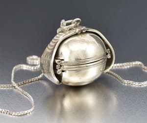 ball, locket, and silver image