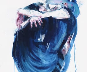 art, love, and blue image