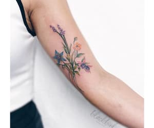 body art, floral, and flowers image