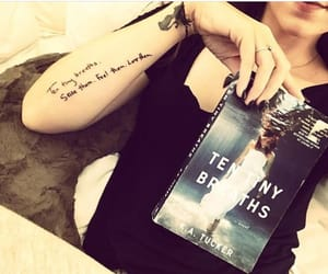 bookworm, book tattoo, and booknerd image